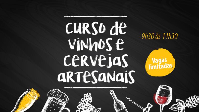 Curso de Vinhos e Cervejas Artesanais